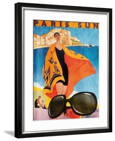 Paris Sun-Jace Grey-Framed Art Print