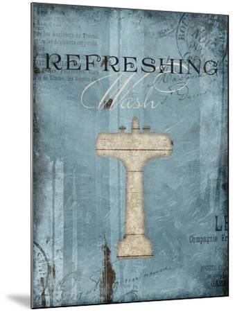 Refreshing Wash-Jace Grey-Mounted Art Print