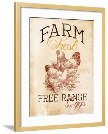 Free Range Eggs-Jace Grey-Framed Art Print