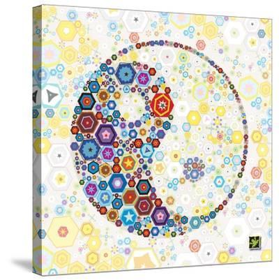 Yin Yang Discs-Jeffrey Cadwallader-Stretched Canvas Print