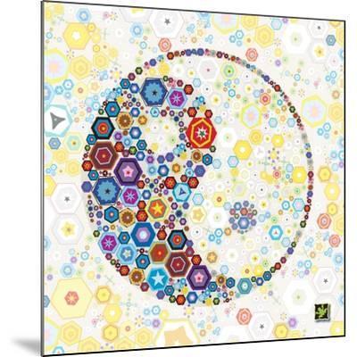 Yin Yang Discs-Jeffrey Cadwallader-Mounted Art Print