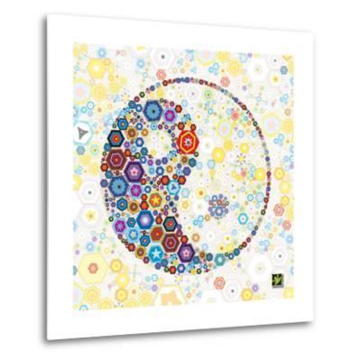 Yin Yang Discs-Jeffrey Cadwallader-Metal Print