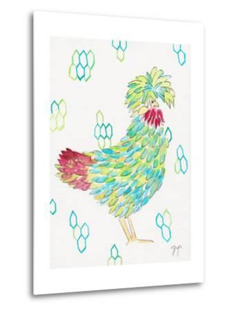Funky Chicken 1-Beverly Dyer-Metal Print