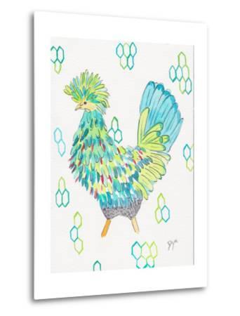 Funky Chicken 2-Beverly Dyer-Metal Print