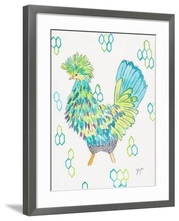 Funky Chicken 2-Beverly Dyer-Framed Art Print
