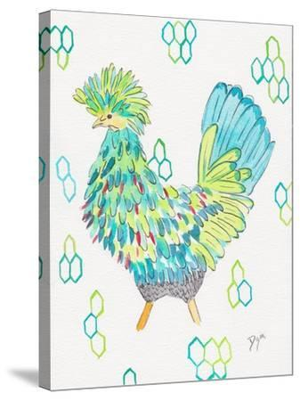 Funky Chicken 2-Beverly Dyer-Stretched Canvas Print