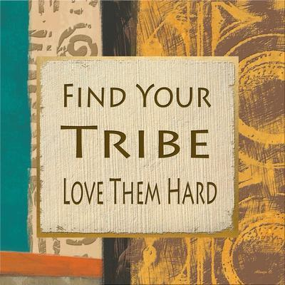 Find Your Tribe-Alonza Saunders-Framed Art Print