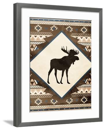 Moose Pattern Mate-Jace Grey-Framed Art Print