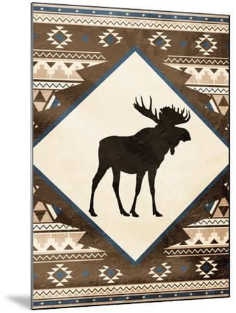 Moose Pattern Mate-Jace Grey-Mounted Art Print