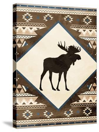 Moose Pattern Mate-Jace Grey-Stretched Canvas Print