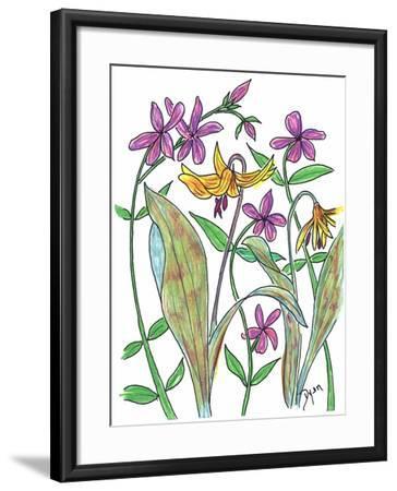 Wild Blue Phlox-Beverly Dyer-Framed Art Print