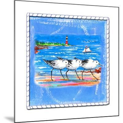 Beach-Front-Shore Birds-Ormsby, Anne Ormsby-Mounted Art Print