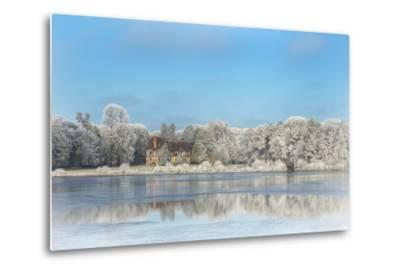 broceliande castle in winter morning-Phillipe Manguin-Metal Print