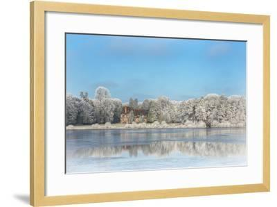 broceliande castle in winter morning-Phillipe Manguin-Framed Photographic Print