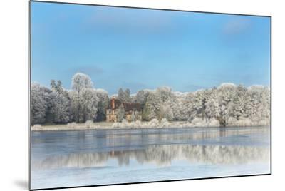 broceliande castle in winter morning-Phillipe Manguin-Mounted Photographic Print