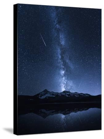 Galaxies Reflection-Toby Harriman-Stretched Canvas Print
