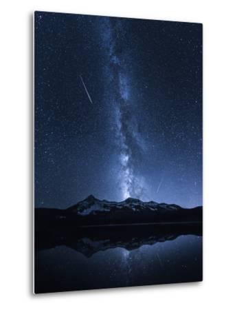 Galaxies Reflection-Toby Harriman-Metal Print