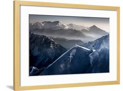 Silent Moments before Descent-Sandi Bertoncelj-Framed Photographic Print
