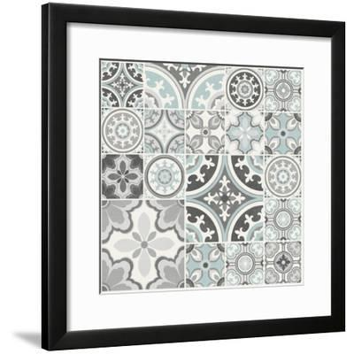 Suzanni Tile II-Diane Kappa-Framed Art Print