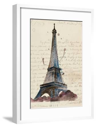 Letters from Eiffel-Melissa Wang-Framed Art Print
