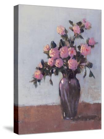 Soft Lit Roses I-Tim OToole-Stretched Canvas Print