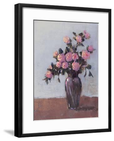 Soft Lit Roses I-Tim OToole-Framed Art Print