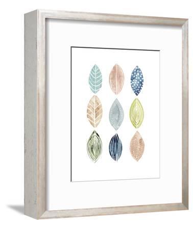 Patterned Leaves II-Grace Popp-Framed Art Print