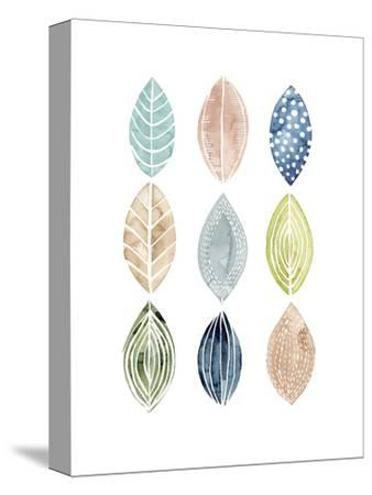 Patterned Leaves II-Grace Popp-Stretched Canvas Print