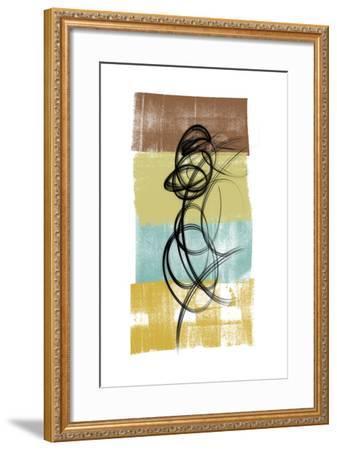 Dancing Swirl II-Alonzo Saunders-Framed Art Print