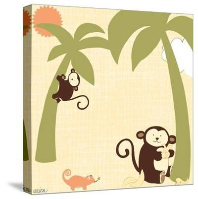 Baby Jungle II-June Vess-Stretched Canvas Print