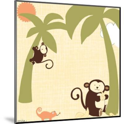 Baby Jungle II-June Vess-Mounted Art Print