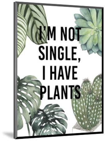 Plant Love V-Studio W-Mounted Art Print