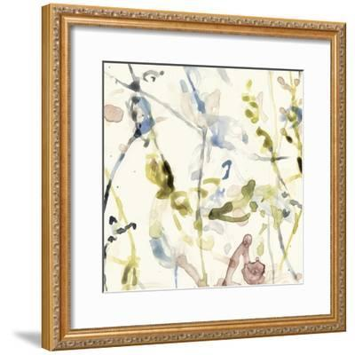 Flower Drips I-Jennifer Goldberger-Framed Art Print