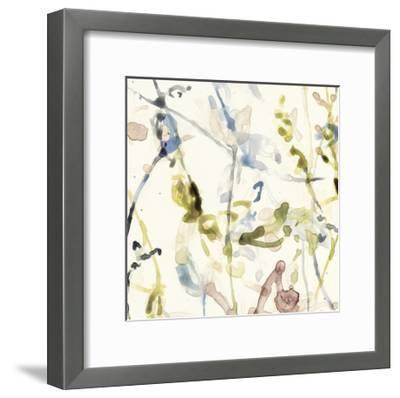 Flower Drips I-Jennifer Goldberger-Framed Art Print