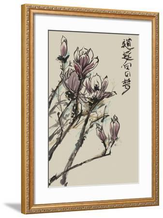 Mandarin Magnolia II-Melissa Wang-Framed Art Print