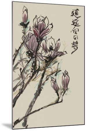 Mandarin Magnolia II-Melissa Wang-Mounted Art Print