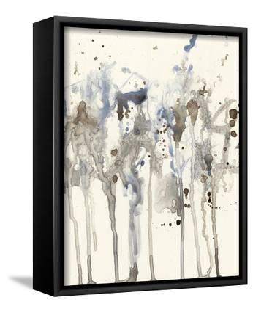 Neutral Splash I-Jennifer Goldberger-Framed Stretched Canvas Print