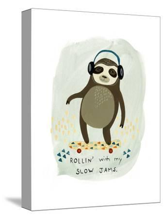 Hipster Sloth II-June Vess-Stretched Canvas Print