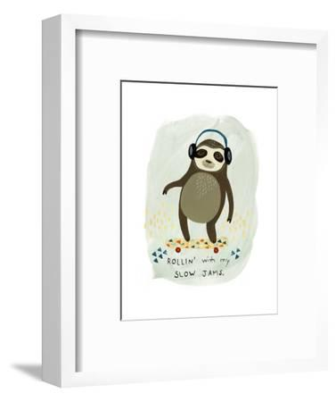 Hipster Sloth II-June Vess-Framed Art Print