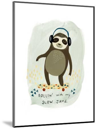 Hipster Sloth II-June Vess-Mounted Art Print