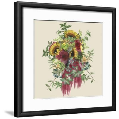 Watercolor Floral Spray IV-Naomi McCavitt-Framed Art Print