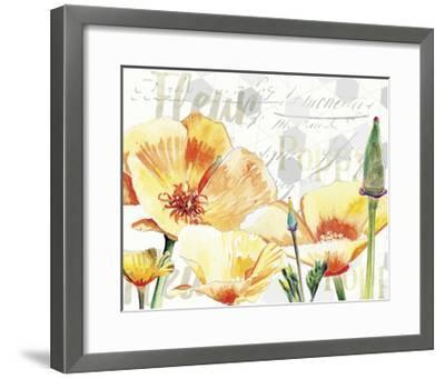 Yellow Poppy I-Redstreake-Framed Art Print