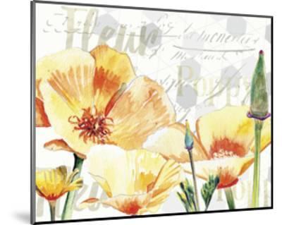 Yellow Poppy I-Redstreake-Mounted Art Print