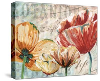 Poppy Layers II-Redstreake-Stretched Canvas Print