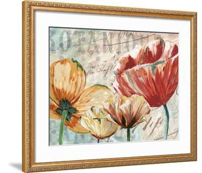 Poppy Layers II-Redstreake-Framed Art Print