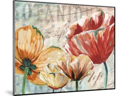 Poppy Layers II-Redstreake-Mounted Art Print