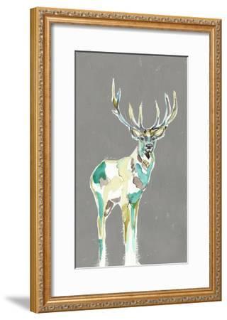 Solitary Deer I-Jennifer Goldberger-Framed Art Print