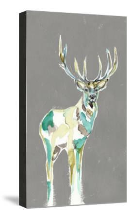 Solitary Deer I-Jennifer Goldberger-Stretched Canvas Print
