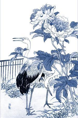 Blue & White Asian Garden I-Vision Studio-Framed Art Print