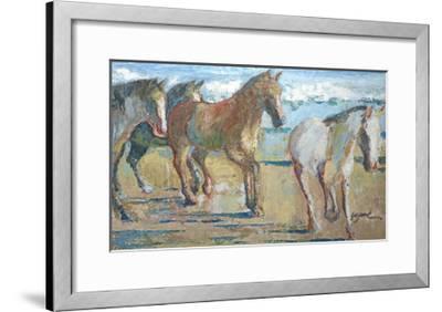 Caballos en la Playa-Suzanne Wilkins-Framed Art Print